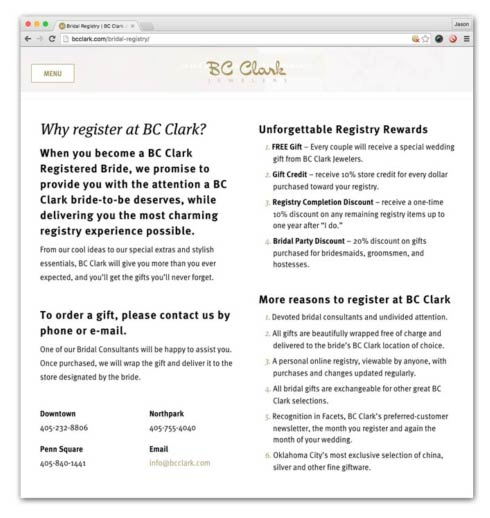 What To Register For Wedding.We D Like To Compliment The Jewelry And Gift Retailer Bc Clark