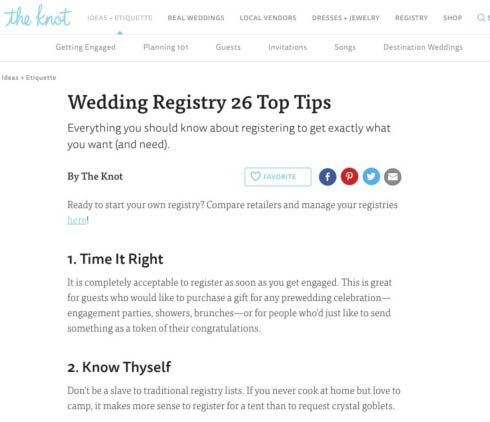 What To Register For Wedding.Theknot Com Shares 26 Wedding Registry Tips Read All 26 Registry