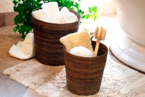 Lifestyle image 1 for Handwoven Waste Basket & Hamper