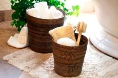 Handwoven Waste Basket & Hamper collection image