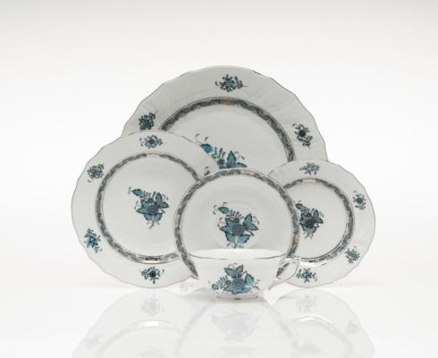 Chinese Bouquet Turquoise & Plantinum collection with 7 products