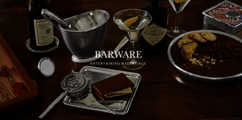 Barware collection with 77 products