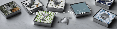 Napkin Boxes and Weights collection with 117 products