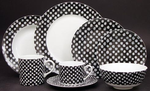 Kelly Wearstler Dots White on Black collection with 9 products
