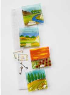 Glass Trays collection with 5 products