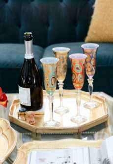 Florentine Wooden Accessories Gold collection with 9 products