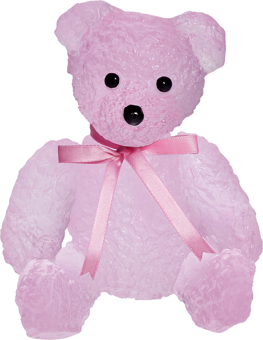Animal Sculptures - Bear Pink doudours from Daum in Oak Park, IL from ...