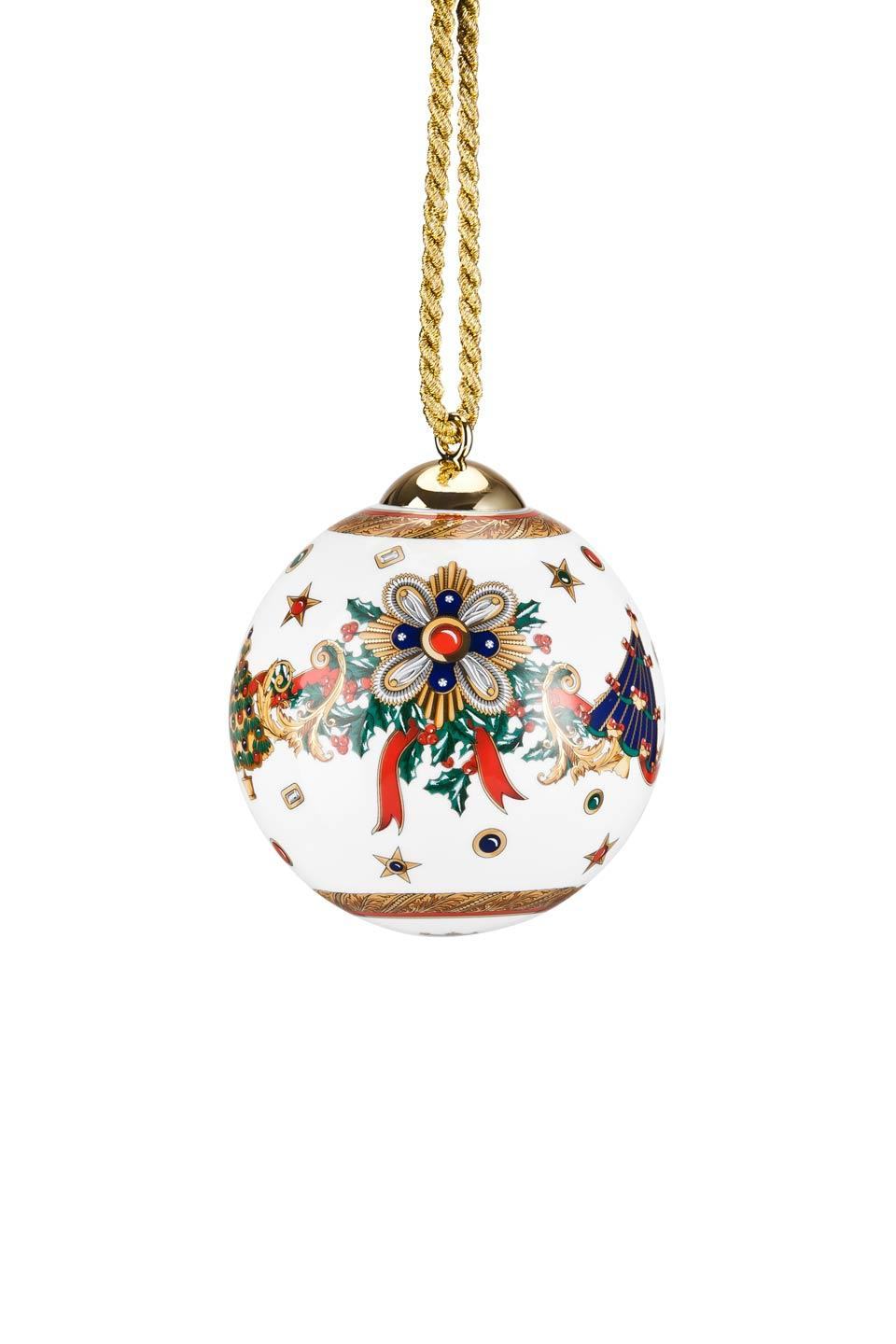 Versace Christmas Porcelain Ornament