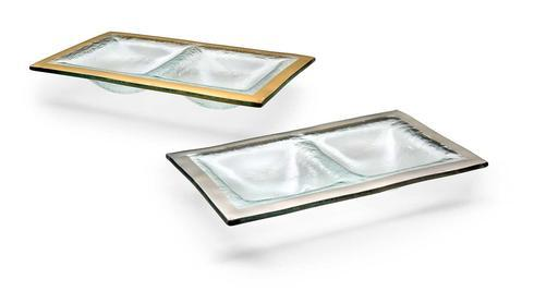 """9 1/2 x 5 3/4"""" two section dish"""