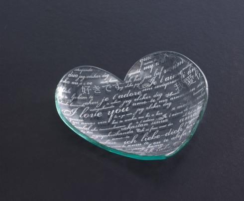 """7"""" sweet nothings heart plate"""