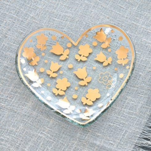 """7"""" dutch flower heart plate"""