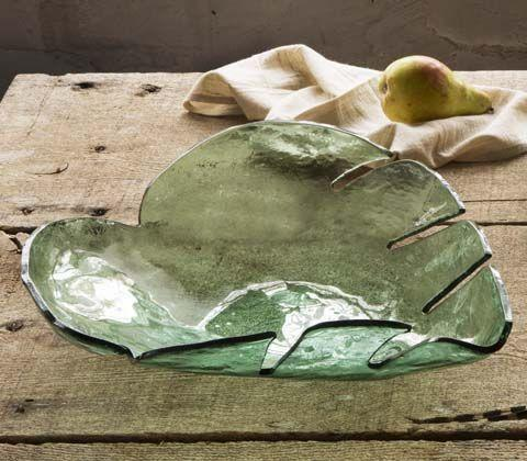 """$105.00 15 1/2"""" Large Palm Frond Bowl"""