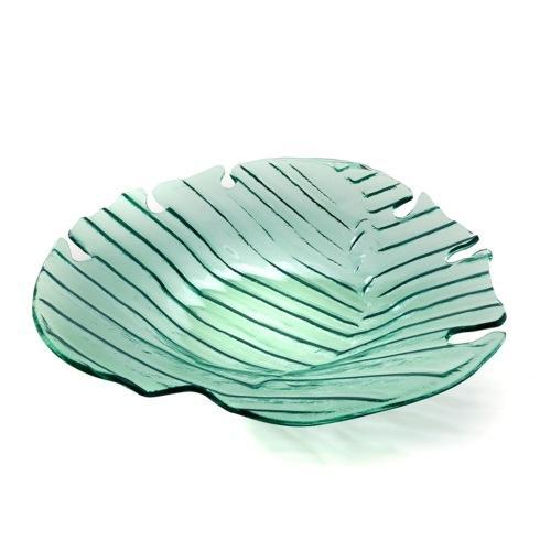 "$116.00 17"" Palm Frond Platter"