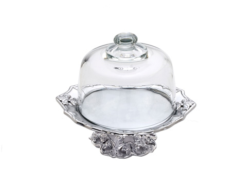 $49 Plate w/Glass Dome
