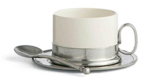 Cappuccino Cup & Saucer with Spoon
