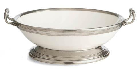 Large Footed Bowl with Handles