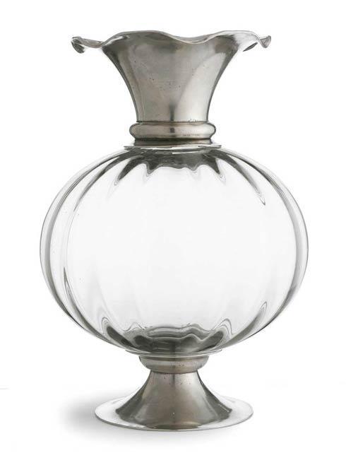 $745.00 Pewter & Crystal Vase