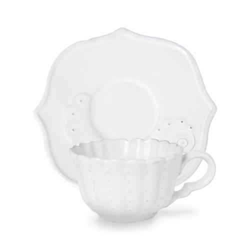 Beaded Flora Cup & Saucer