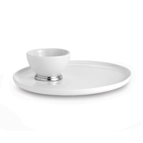 $95.00 Round Platter with Dipping Bowl