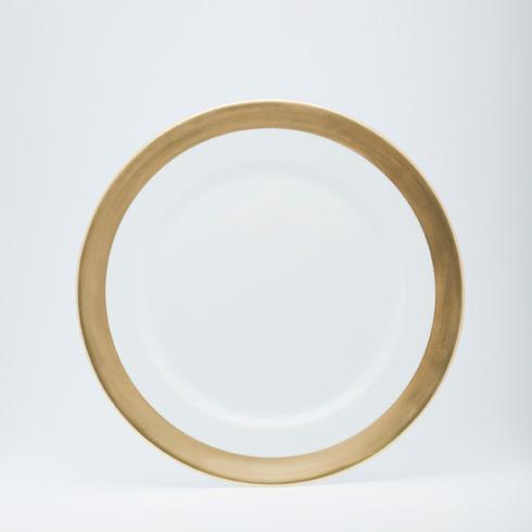 $190.00 presentation plate (1/2 rim matte gold)