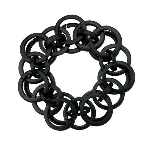 $54.00 Black Napkin Ring - Pack of 4