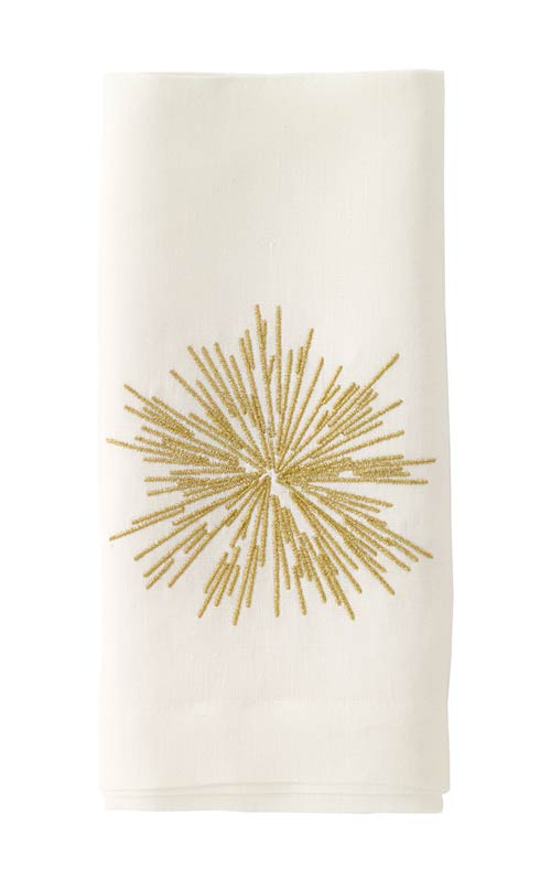 """$176.00 Gold Embroidered 22"""" Napkin - Pack of 6"""