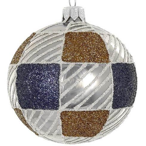 """$49.00 4 Pc Set Brown/Blue 4"""" Mouth Blown Polish Glass Ornaments"""