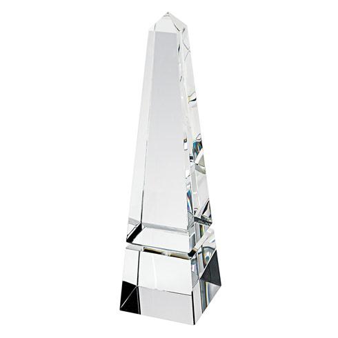 """$99.95 Hand Crafted Crystal 12"""" Obelisk"""