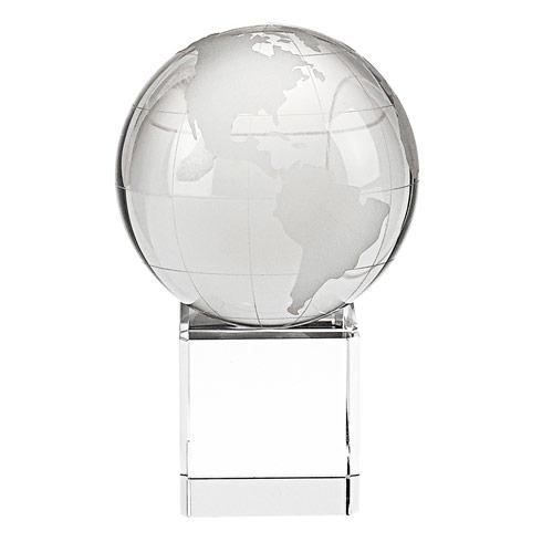 "$39.95 Hand Cut Crystal 3"" Globe on 1.75"" Crystal Base"