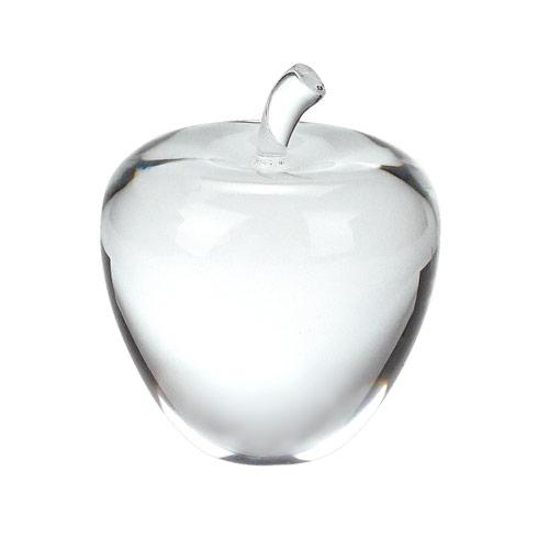 """$48.00 Crystal Apple 3.5"""" Tall"""