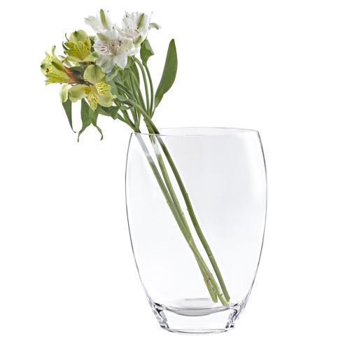 "$79.00 Classic Clear European Mouth Blown 12"" Vase"
