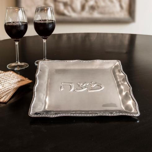 $84.00 Matza Plate with Pearls