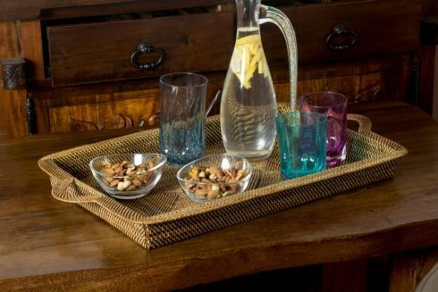 $136.00 Rectangular Tray with handles