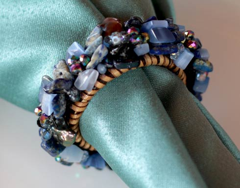 $58.00 Jewelled Napkin Ring Blueberries