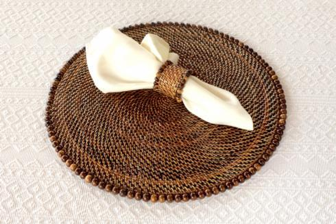Placemat with Beads Dark Walnut Set of 4 pcs image