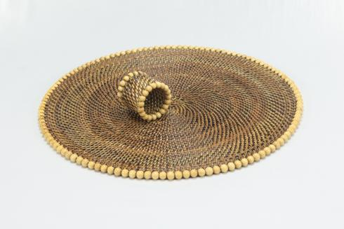 Placemat with Beads Natural Set of 4 pcs image