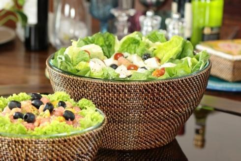 $125.00 Basket with Glass Bowl 4QT