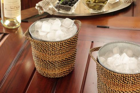 Ice Basket with Galvanized Bucket image