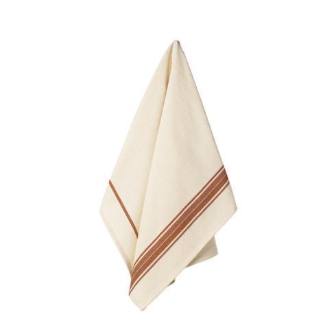 $17.50 Set 2 Kitchen Towels (French Stripes - Orange)