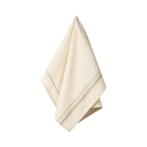 $17.50 Set 2 Kitchen Towels (French Stripes - Dove grey )