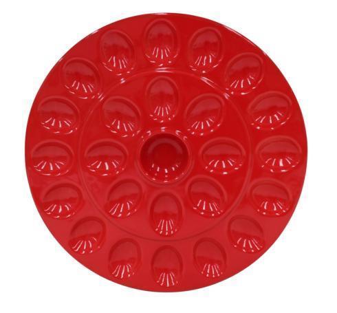 Egg Platter, Red