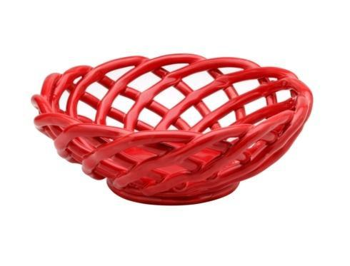 $53.00 Medium Round Basket, Red