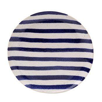 Dinner Plate, Blue Stripes