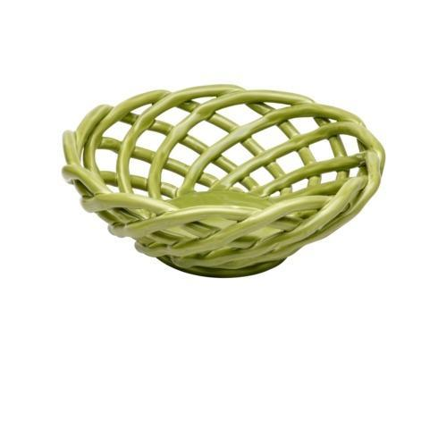 $53.00 Medium Round Basket, Green