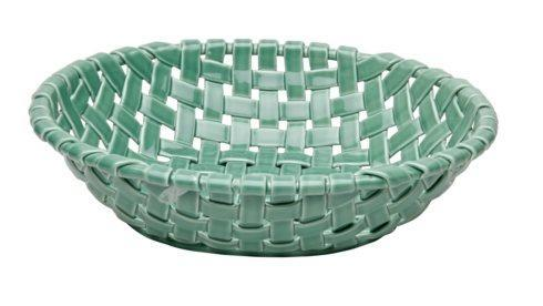 Large Oval Basket, Turquoise