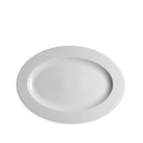White 14 In Rim Oval Platter image