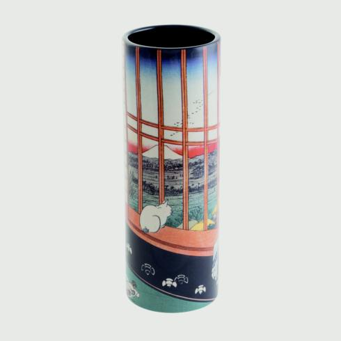 $35 Hiroshige - Cat sees Mount Fuji Small Vase