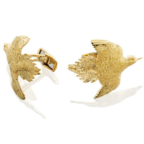 $1,695.00 Dove Cufflinks - Pair - 14k Gold