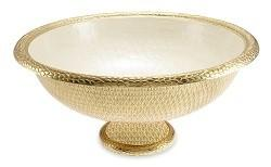 "$650.00 21"" Gala Bowl - Gold Snow"