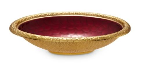 "$239.00 15"" Oval Bowl Pomegranate"